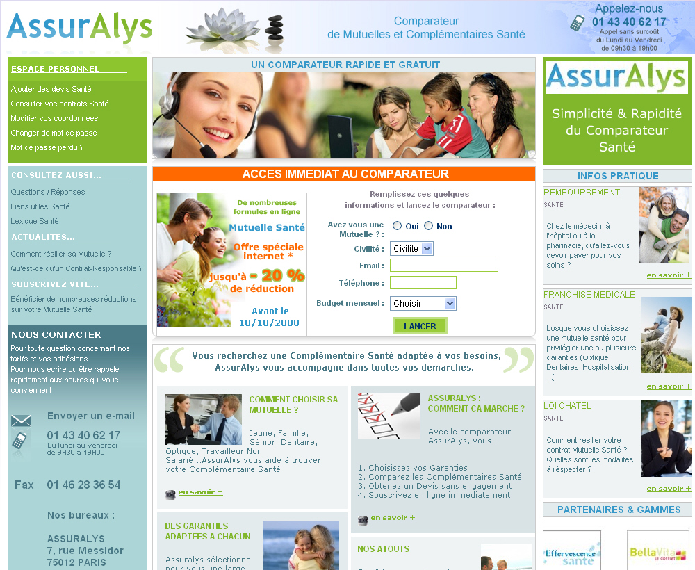 Comparateur de Mutuelles Senior Assuralys