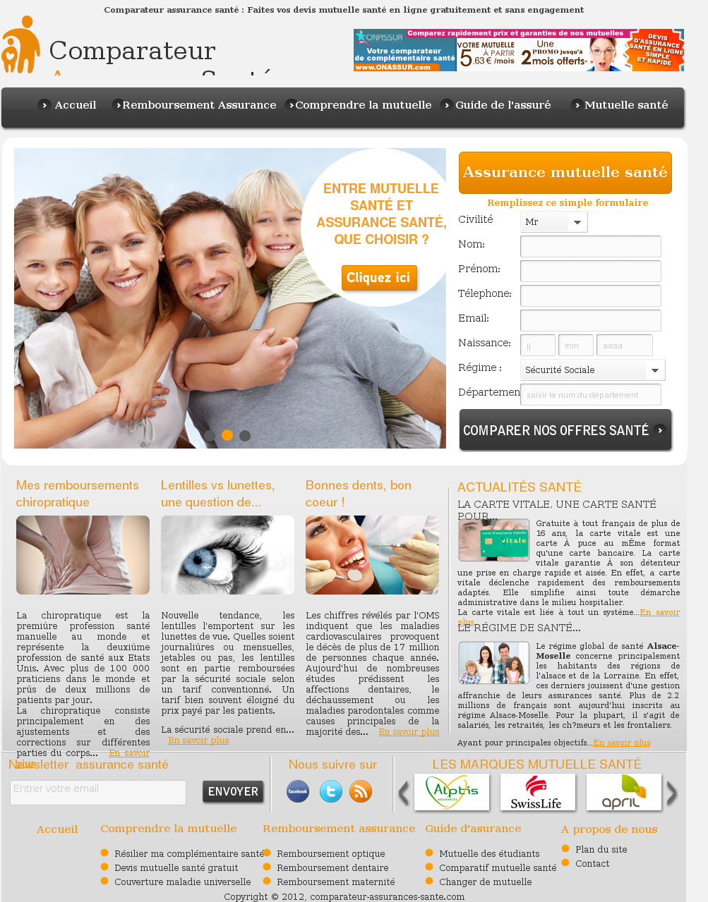 Comparateur assurances santé